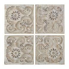 Moroccan Light Wood, Set of 4 Panels