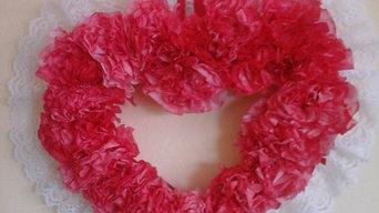Lacey Heart Wreath