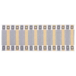 Marta Woven Vinyl Floor Cloth, Grey and Yellow, 70x200 cm