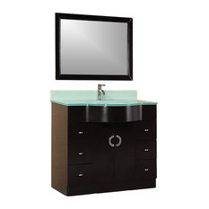 Modern Bathroom Vanity Model Contempo 400 With Mirror