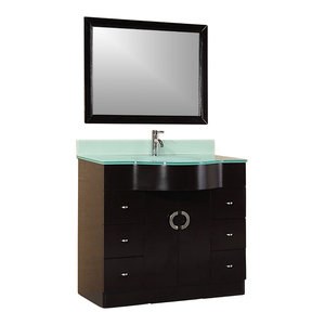 Aria 40 Quot Single Sink Vanity Set Espresso Contemporary