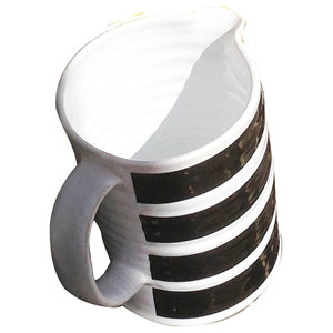 Striped Jug, Black, Small