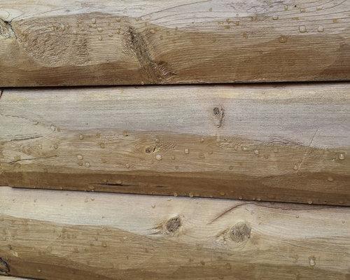 Log cabin siding E log siding