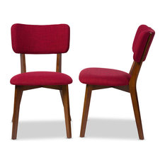 Red Fabric Dining Chairs