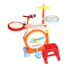Charles Bentley & Son Ltd - Bontempi Digital Drum Kit With Electronic Keyboard and Stool Age 18+ Months - Toddler & Baby Toys