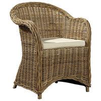 Coquina Handwoven Rattan Spoonback Chair