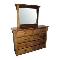 Reclaimed Barn Wood 8-Drawer Dresser With Mirror