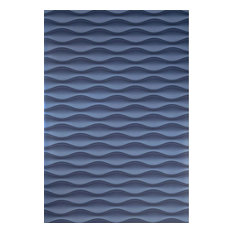 Wave lines Modern 3D illusion navy blue Wallpaper , 21 Inc X 33 Ft Roll
