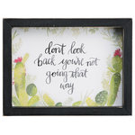 Glory Haus, Inc - Don't Look Back Frmd Watercolor SM - Let this watercolor speak encouragement and love into your heart!