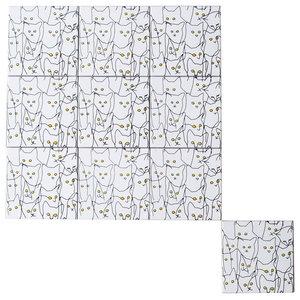 Cats Ceramic Tile Mural, 10 Tiles