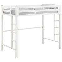 Walker Edison Btsqtolwh Premium Deluxe Twin Metal Loft Bed, White