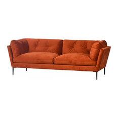 Burnt Orange Leather Sofas   Houzz