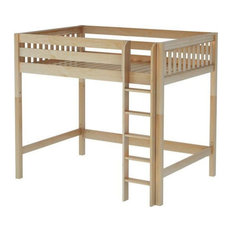 Bennett Natural XL High Loft Beds for Teens, Extra Long Full