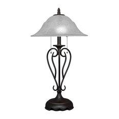 Olde Iron 2-Light Table Lamp Dark Granite