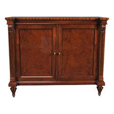 Server Cabinet Penhurst Mahogany Hand-Carved Two Paneled Doors Reeded