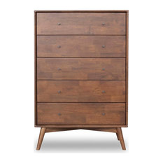 Mid Century Modern Denver Walnut Brown Dresser