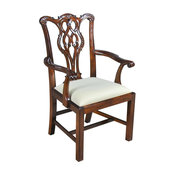 Arm Chair Chippendale H-Frame Tapered Back
