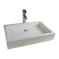 Timbre Bathroom Vessel Sink, Stone, 60 cm