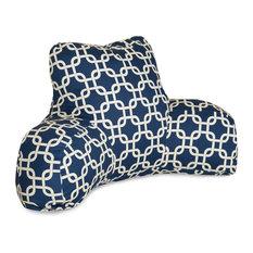 Navy Blue Links Reading Pillow