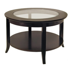 Winsome   Genoa Coffee Table, Glass Inset And Shelf   Coffee Tables