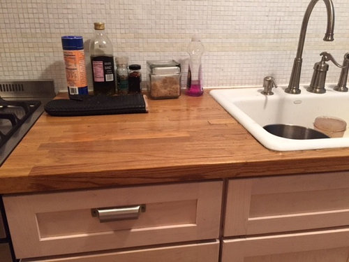Installing Marble Countertop In Place Of Butcher Block