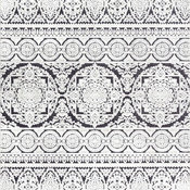 nuLOOM Jeannie Transitional Contemporary Area Rug, Black and White, 9'x12'