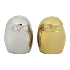 Owl Salt & Pepper Shakers by BIA, Gold & Platinum