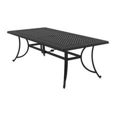 Burnella Outdoor Rectangular Dining Table, Brown