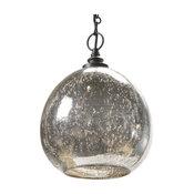 Voysey Industrial Loft Antique Mercury Glass Float Pendant
