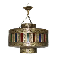 Colored glass chandeliers houzz badia design inc moroccan brass chandelier with white and multi color glass aloadofball Gallery