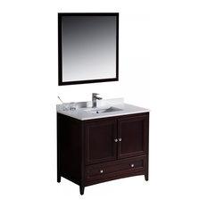 "Fresca Oxford 36"" Mahogany Traditional Bathroom Vanity"