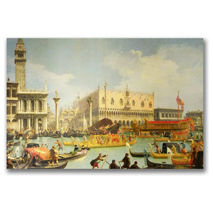Return Of The Bucintoro Canvas Art By Canaletto Traditional Prints And Posters By Trademark Global