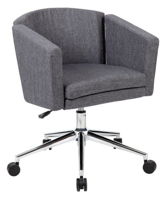 Boss Office Metro Club Desk Chair Black Contemporary