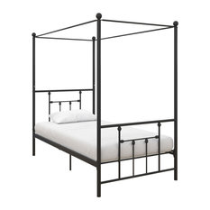 Maisie Canopy Bed, Black, Twin