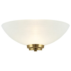 Welles Wall Light With Frosted Glass Shade, Antique Brass