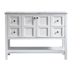 "Florence 48"" Single Vanity, White, Without Mirror"