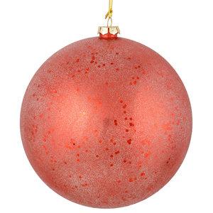 Vickerman Set Of 4 Chevron Glitter Ball Ornaments Red And Lime Contemporary Christmas Ornaments By Vickerman Company