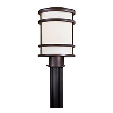 The Great Outdoors GO 9806 Bay View 1 Light Post Light - Oil Rubbed Bronze