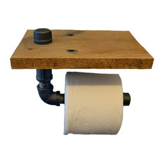 rustic wood bathroom accessories. Turnbull Farms  Reclaimed Wood and Pipe Toilet Paper Holder Raw Unfinished Rustic Bathroom Accessories Houzz
