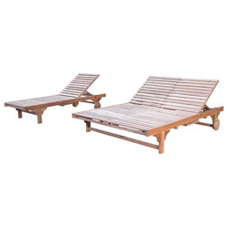 Transitional Outdoor Chaise Lounges by Anderson Teak