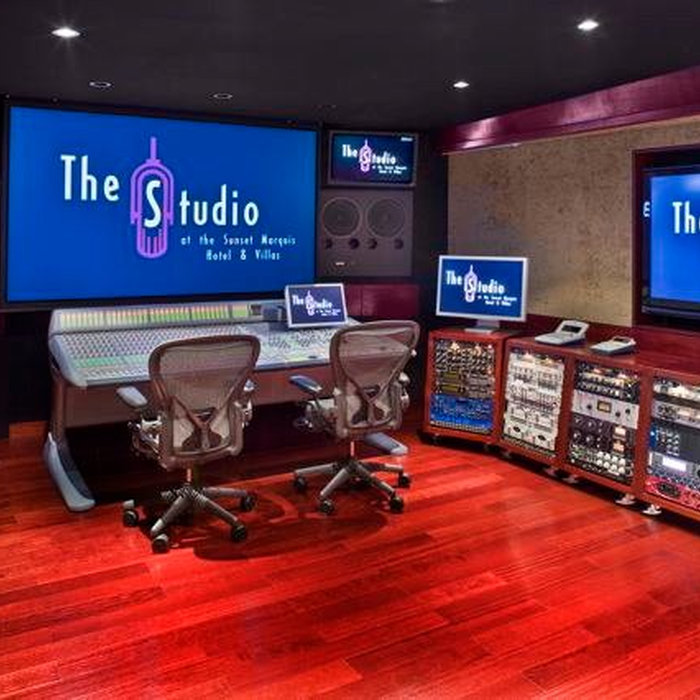 Fully automated recording studio that doubles as a screening room, multi-functional