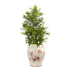 "21"" Boxwood Artificial Plant in Floral Jar"