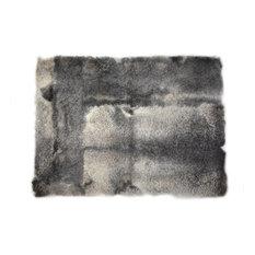 "Sheepskin Fur Meditation Yoga Rug Dark Gray Rectangle 2'6""x3'5"""