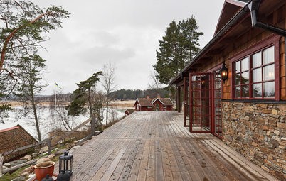 Houzz Швеция: Ранчо с дранкой… под Стокгольмом