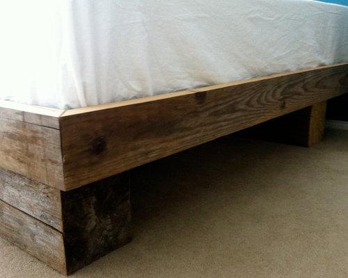 reclaimed yellow cedar bed frame