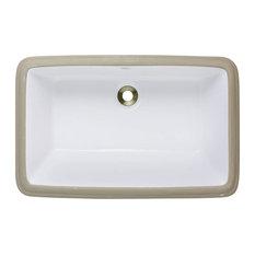Mr Direct Mr Direct U1812 Undermount Porcelain Sink White Bathroom Sinks