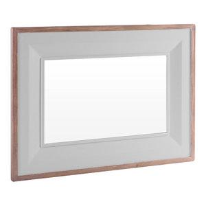 Rectangular Mirror, 80x110 cm, Light Grey
