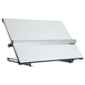 Modern Stylish Drawing Board, Steel With Carrying Handle and Angle Adjustment