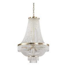 Ideal Lux Augustus 12-Light Chandelier, Gold