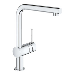 Modern Single Lever Kitchen Tap With Pull Out Spray Head and 360 Swivel Spout